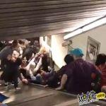 乘梯安全不容忽视 罗马地铁电扶梯遭球迷狂踩坍塌