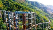 贵阳六盘水野玉海景区 打造世界首座三层螺旋盘升跨坐单轨桥