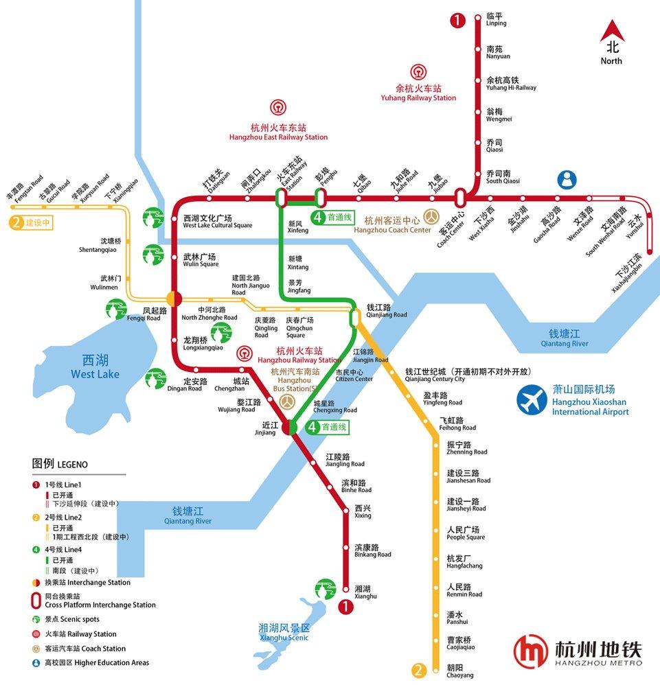 杭州地铁线路图 运营时间票价站点 查询下载 杭州地铁线路图 杭州地铁票价 杭州地铁运营时间 杭州地铁 杭州地铁线路图  第1张