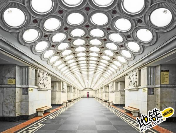 莫斯科地铁站的建筑摄影 轨道动态 第1张