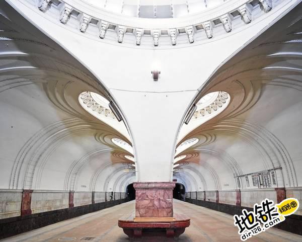 莫斯科地铁站的建筑摄影 轨道动态 第7张