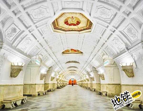 莫斯科地铁站的建筑摄影 轨道动态 第9张