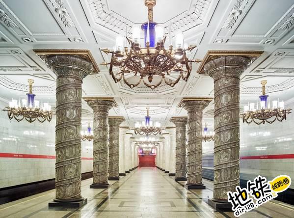 莫斯科地铁站的建筑摄影 轨道动态 第10张