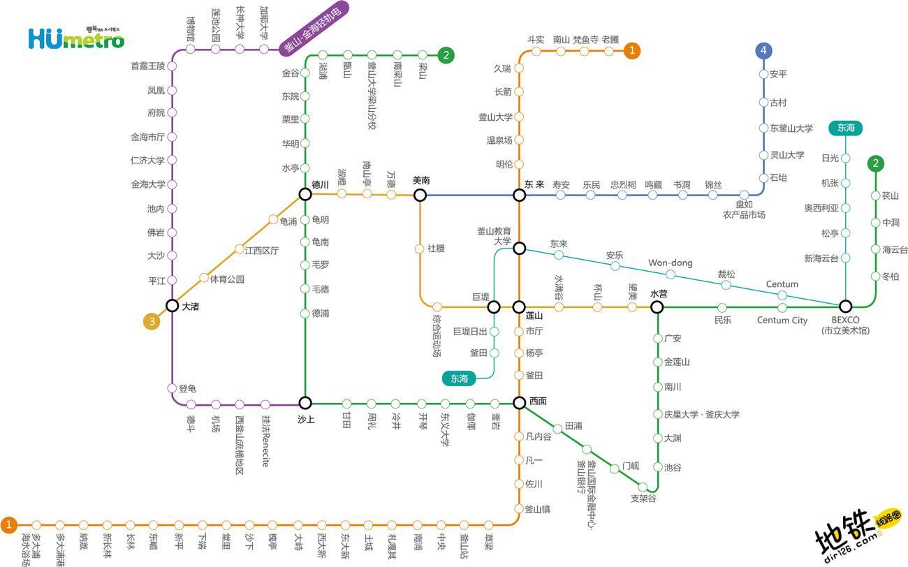 韩国釜山都市地铁线路图 运营时间票价站点 查询下载 釜山地铁票价 釜山地铁运营时间 釜山地铁线路图 韩国釜山地下铁 韩国釜山都市地铁 韩国地铁线路图  第3张
