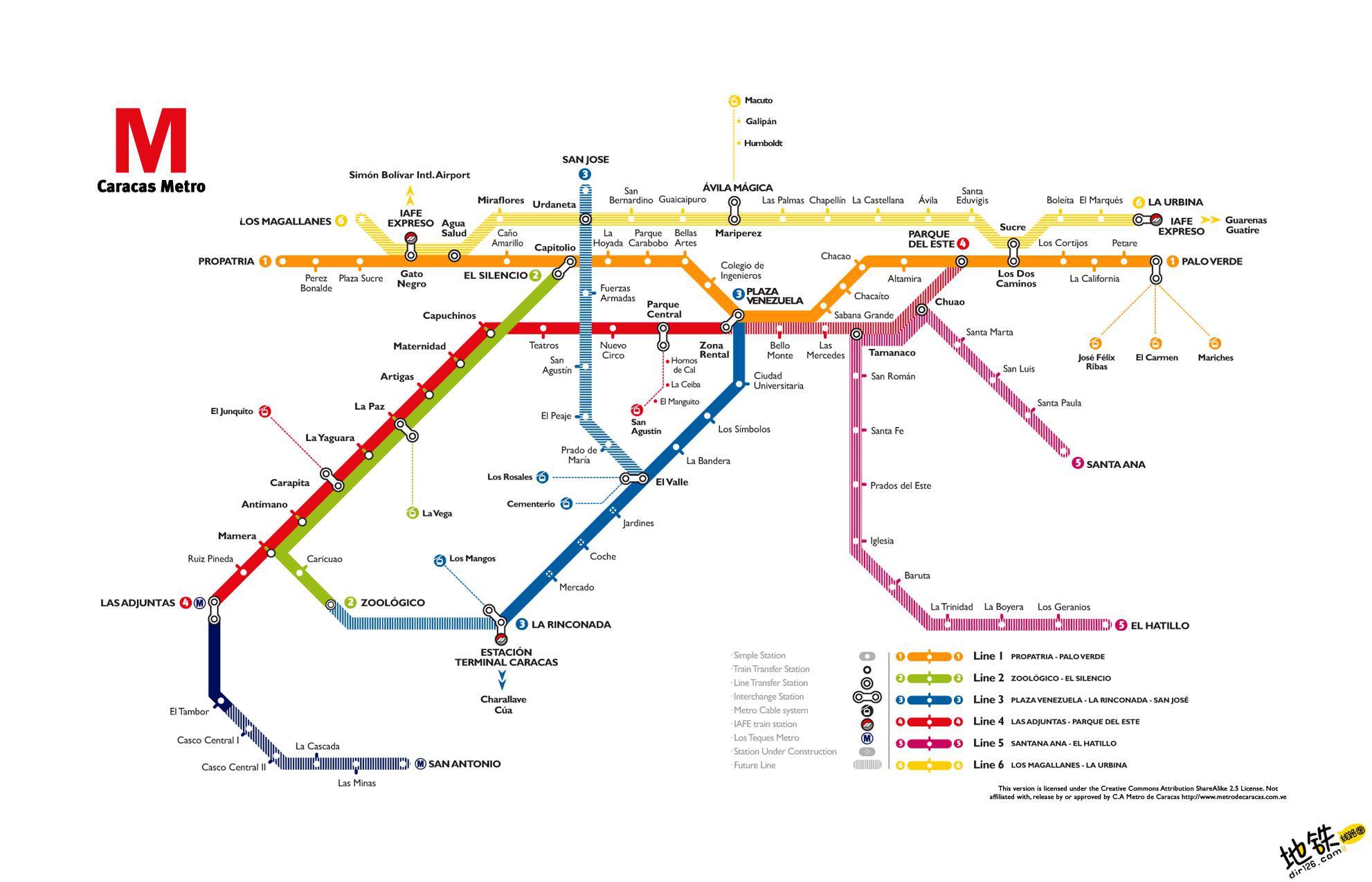委内瑞拉加拉加斯地铁线路图 运营时间票价站点 查询下载 加拉加斯地铁票价查询 加拉加斯地铁运营时间 加拉加斯地铁线路图 加拉加斯地铁 委内瑞拉加拉加斯地铁 委内瑞拉地铁线路图  第2张