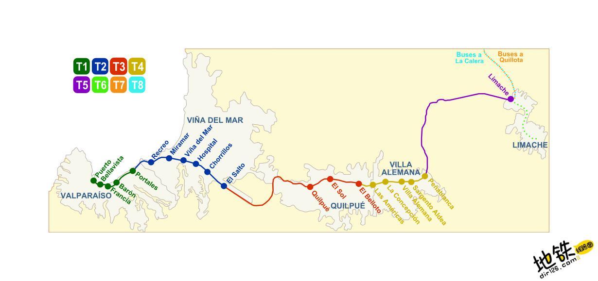 智利瓦尔帕莱索地铁线路图 运营时间票价站点 查询下载 瓦尔帕莱索地铁票价查询 瓦尔帕莱索地铁运营时间 瓦尔帕莱索地铁线路图 瓦尔帕莱索地铁 智利瓦尔帕莱索地铁 智利地铁线路图  第2张