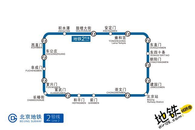 北京地铁2号线线路图 运营时间票价站点 查询下载 北京地铁2号线查询 北京地铁2号线运营时间 北京地铁2号线线路图 北京地铁二号线 北京地铁2号线 北京地铁线路图 第2张