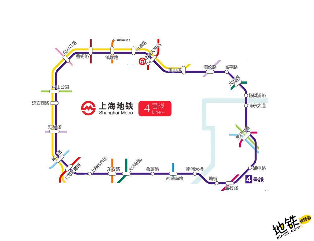 上海地铁4号线线路图 运营时间票价站点 查询下载 上海地铁4号线查询 上海地铁4号线运营时间 上海地铁4号线线路图 上海地铁4号线 上海地铁四号线 上海地铁线路图  第2张