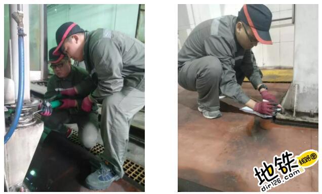 """地铁洗车机也有""""体检"""" 地铁人 体检 地铁洗车机 洗车 地铁 轨道知识  第4张"""