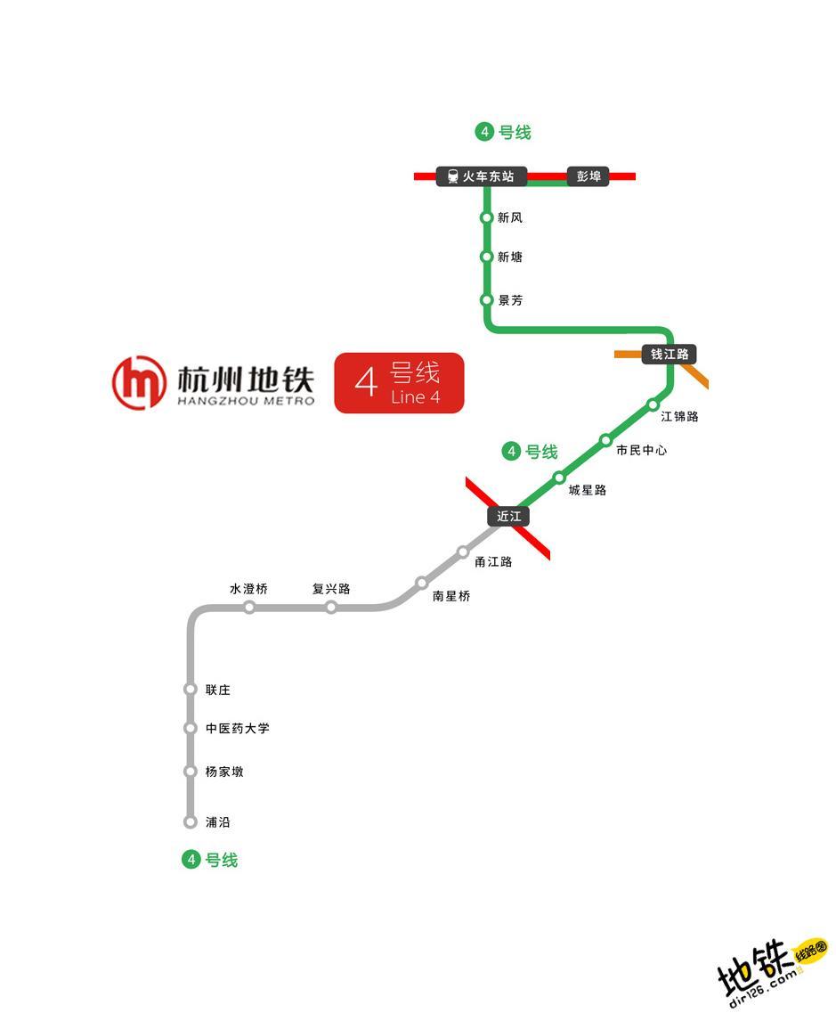 杭州地铁4号线线路图 运营时间票价站点 查询下载 杭州地铁4号线查询 杭州地铁4号线运营时间 杭州地铁4号线线路图 杭州地铁4号线 杭州地铁四号线 杭州地铁线路图  第2张