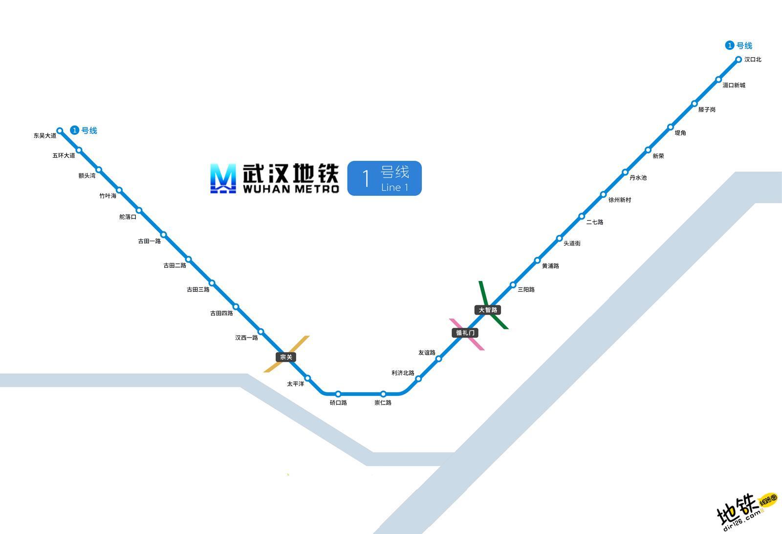 武汉地铁1号线线路图 运营时间票价站点 查询下载 武汉地铁1号线查询 武汉地铁1号线运营时间 武汉地铁1号线线路图 武汉地铁1号线 武汉地铁一号线 武汉地铁线路图  第2张
