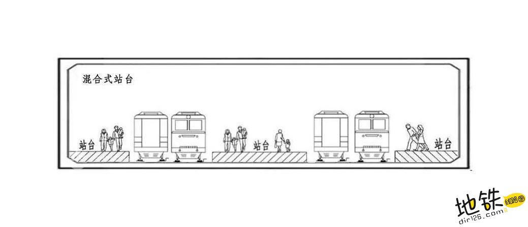 为什么地铁有时候开这边车门,有时候开另一边车门呢? 混合式站台 侧式站台 岛式站台 地铁站台 地铁站 地铁 轨道知识  第4张