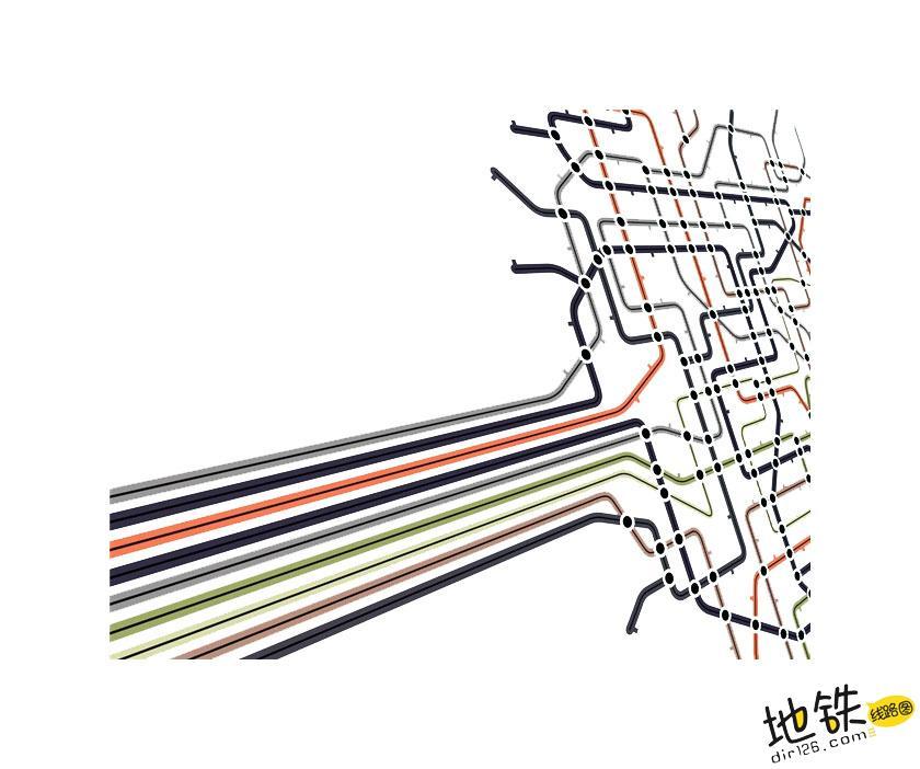 关于地铁线路图可读性的思考 广告 可读性 地铁线路图 地铁 轨道知识  第1张