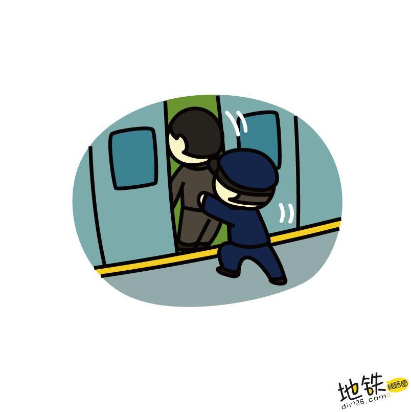 """大早上的,地铁站人为""""添堵""""么! 乘客 安全 客流控制 地铁站 地铁 轨道动态  第1张"""