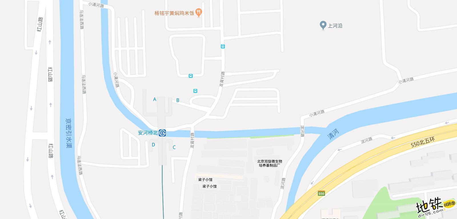 安河桥北地铁站 北京地铁安河桥北站出入口 地图信息查询  北京地铁站  第2张