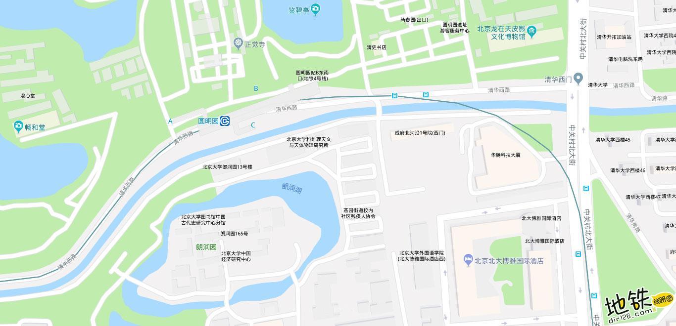 圆明园地铁站 北京地铁圆明园站出入口 地图信息查询  北京地铁站  第2张