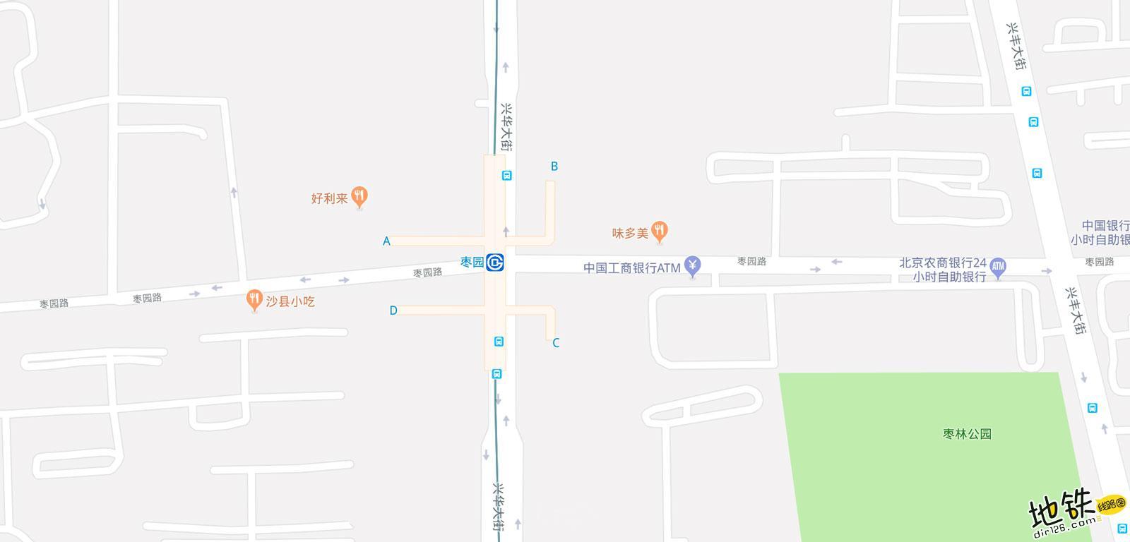 枣园地铁站 北京地铁枣园站出入口 地图信息查询  北京地铁站  第2张