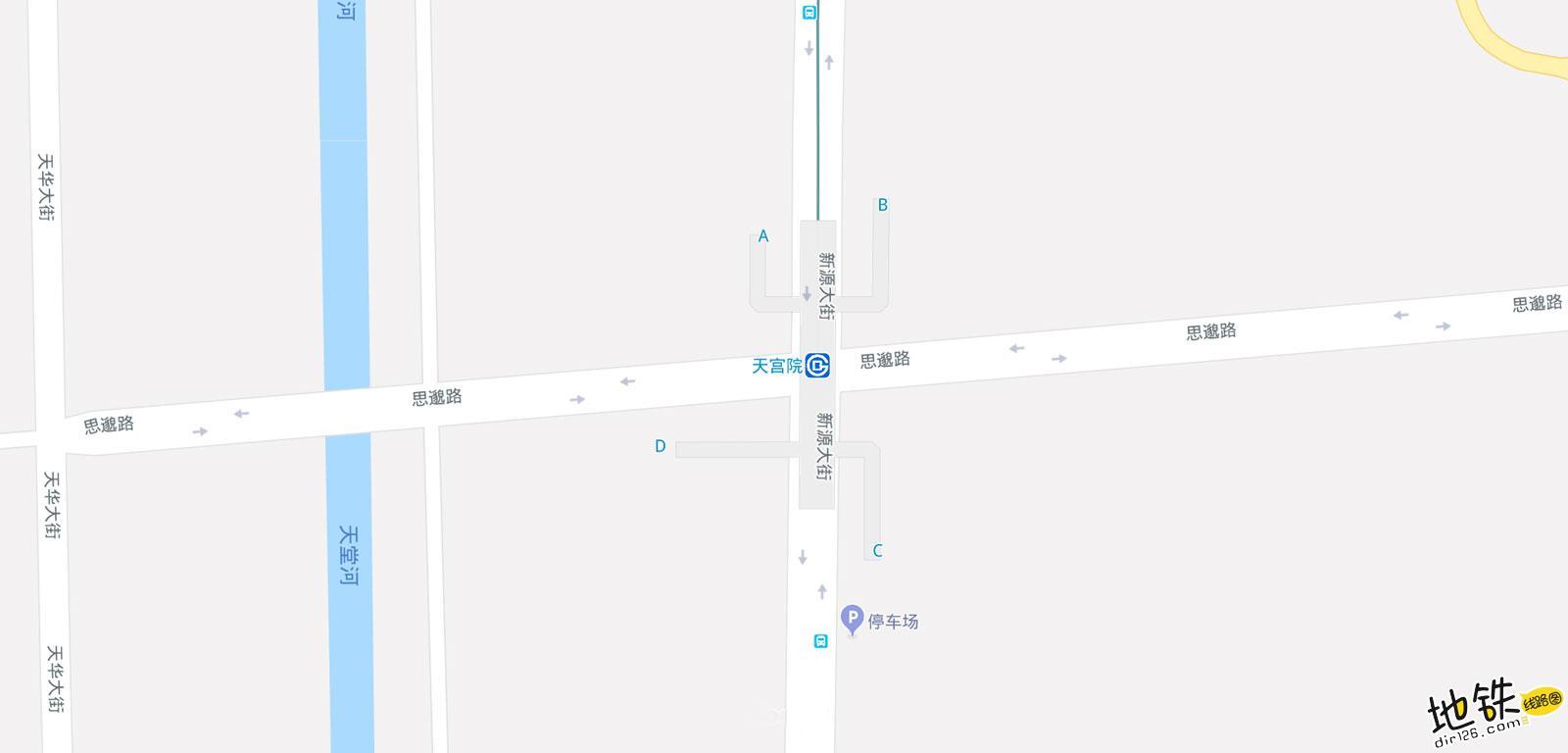 天宫院地铁站 北京地铁天宫院站出入口 地图信息查询  北京地铁站  第2张