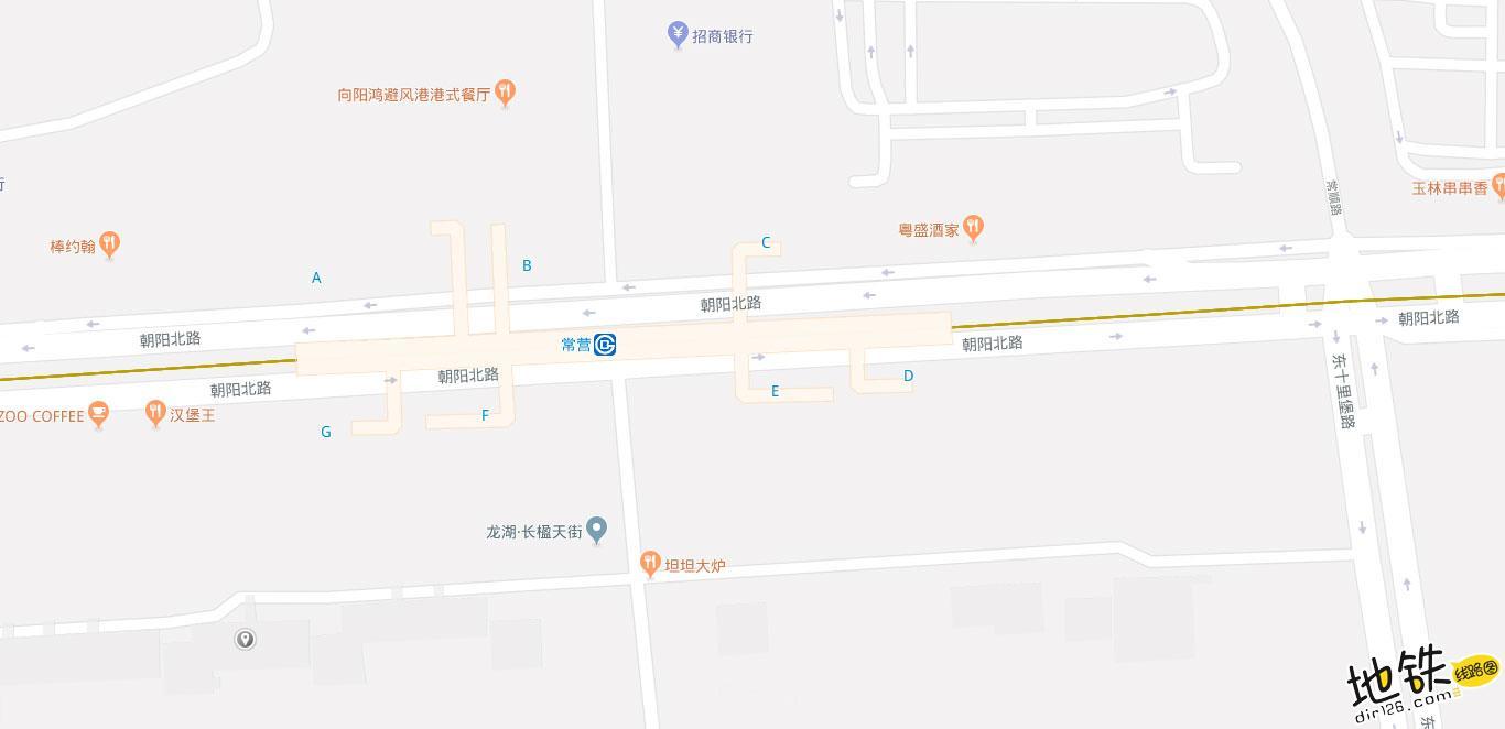 常营地铁站 北京地铁常营站出入口 地图信息查询  北京地铁站  第2张