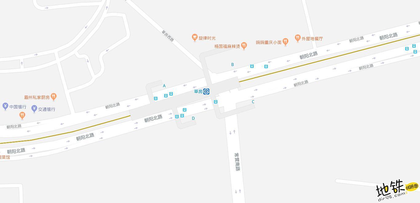 草房地铁站 北京地铁草房站出入口 地图信息查询  北京地铁站  第2张