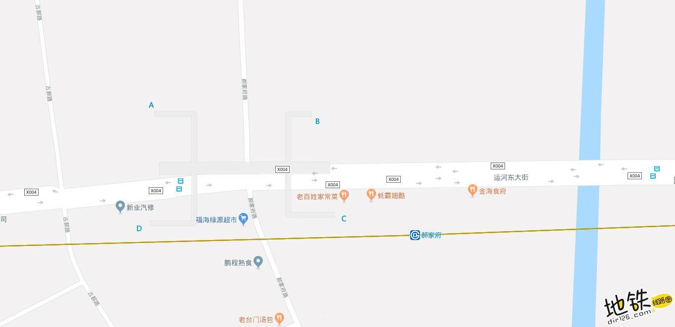 郝家府地铁站 北京地铁郝家府站出入口 地图信息查询  北京地铁站  第2张