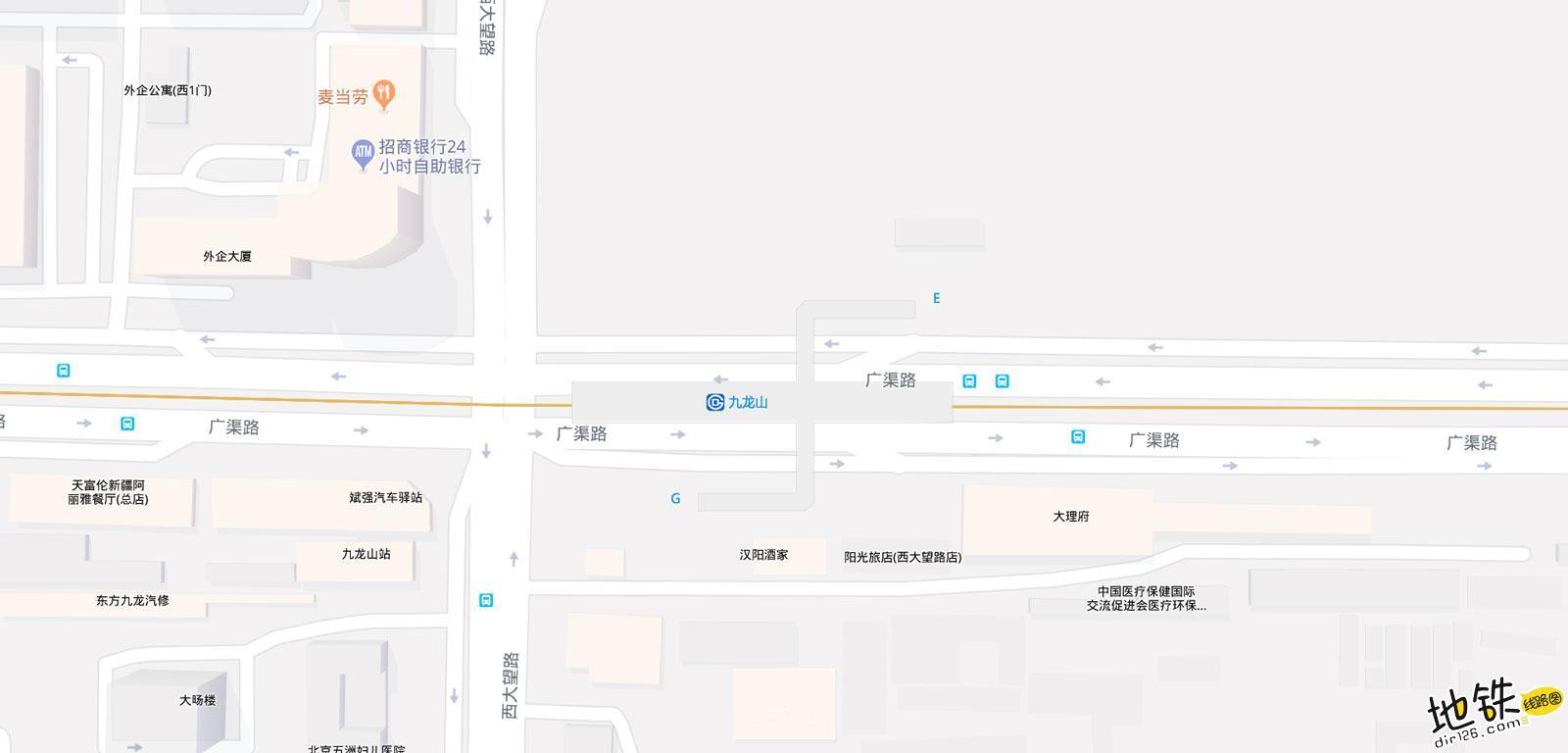 九龙山地铁站 北京地铁九龙山站出入口 地图信息查询  北京地铁站  第2张