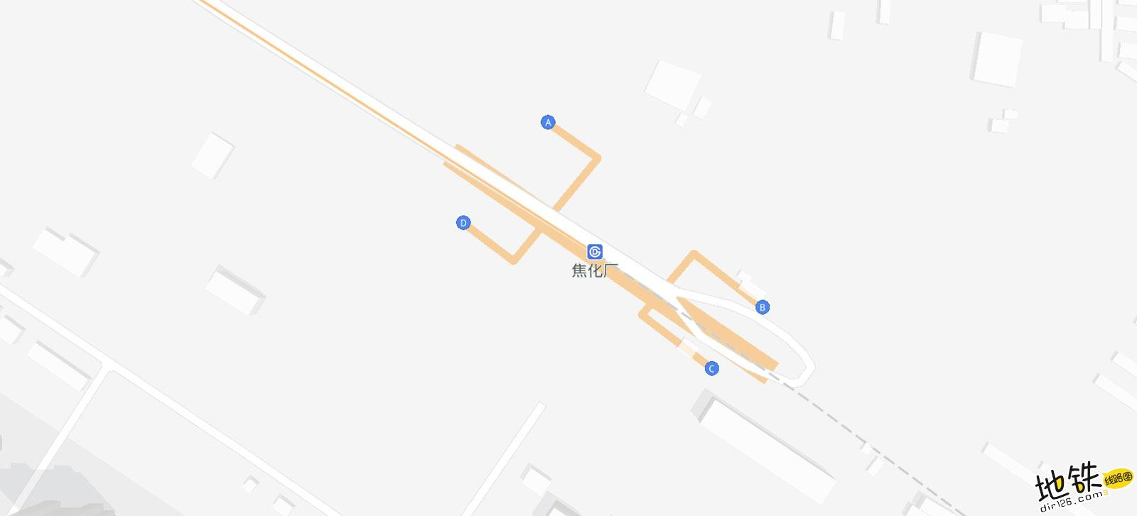 焦化厂地铁站 北京地铁焦化厂出入口 地图信息查询  北京地铁站  第2张