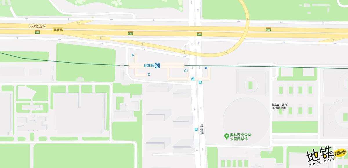 林萃桥地铁站 北京地铁林萃桥站出入口 地图信息查询  北京地铁站  第2张