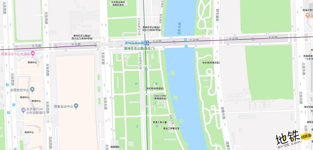 奥林匹克公园地铁站 北京地铁奥林匹克公园站出入口 地图信息查询  北京地铁站  第2张