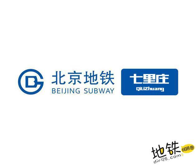 七里庄地铁站 北京地铁七里庄站出入口 地图信息查询  北京地铁站  第1张