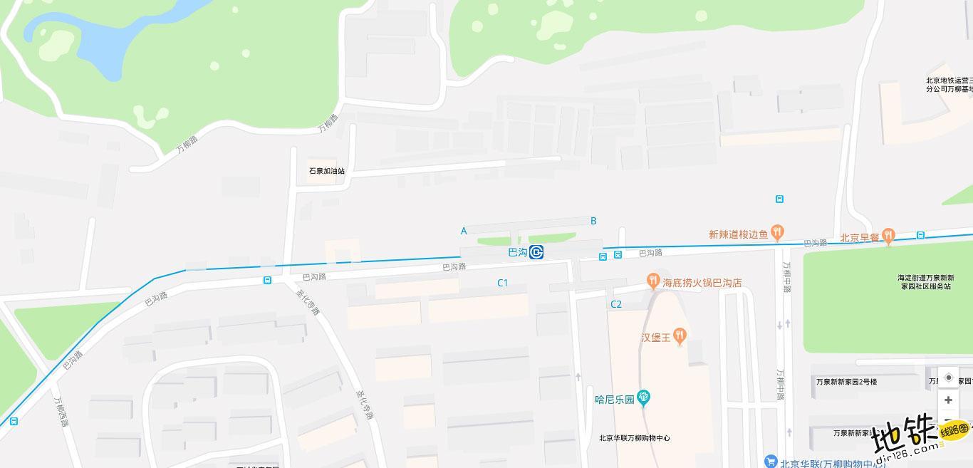 巴沟地铁站 北京地铁巴沟站出入口 地图信息查询  北京地铁站  第2张