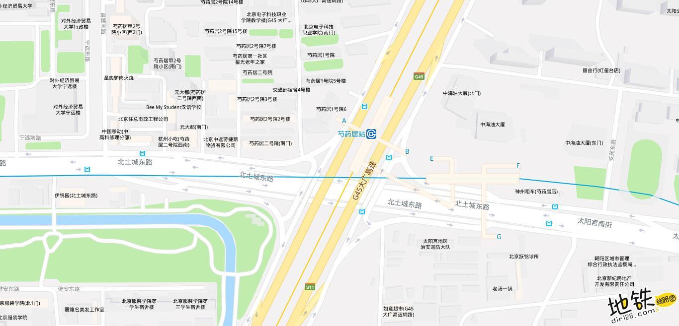 太阳宫地铁站 北京地铁太阳宫站出入口 地图信息查询  北京地铁站  第2张