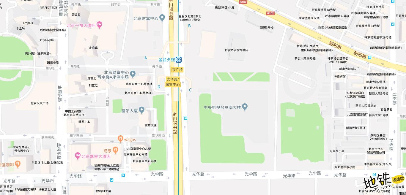 金台夕照地铁站 北京地铁金台夕照站出入口 地图信息查询  北京地铁站  第2张