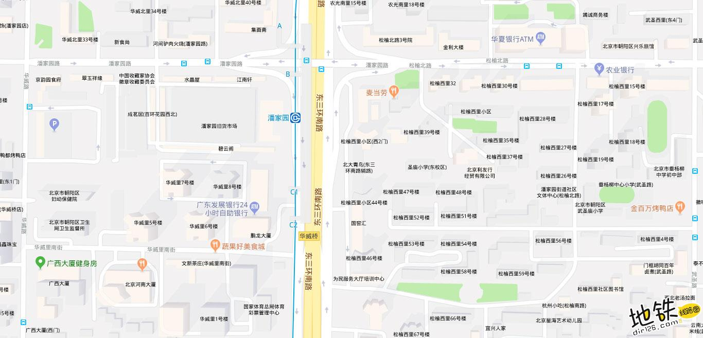 潘家园地铁站 北京地铁潘家园站出入口 地图信息查询  北京地铁站  第2张