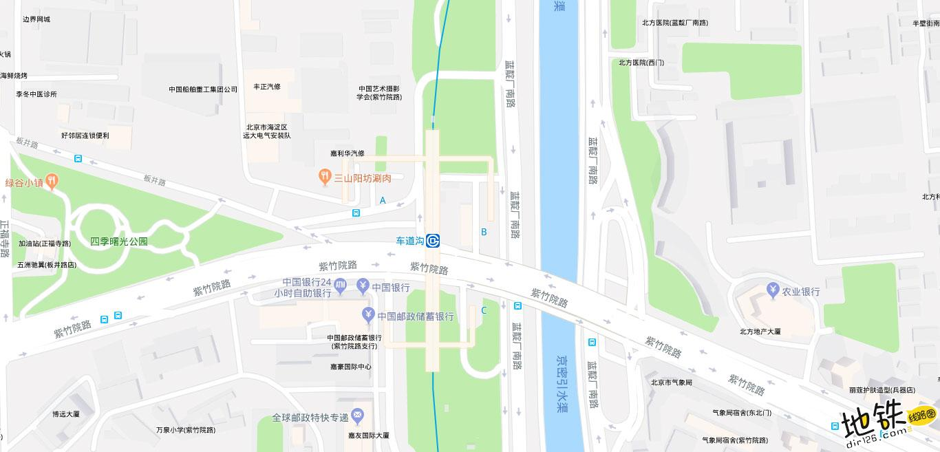 车道沟地铁站 北京地铁车道沟站出入口 地图信息查询  北京地铁站  第2张