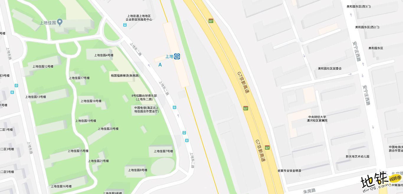 上地地铁站 北京地铁上地站出入口 地图信息查询  北京地铁站  第2张