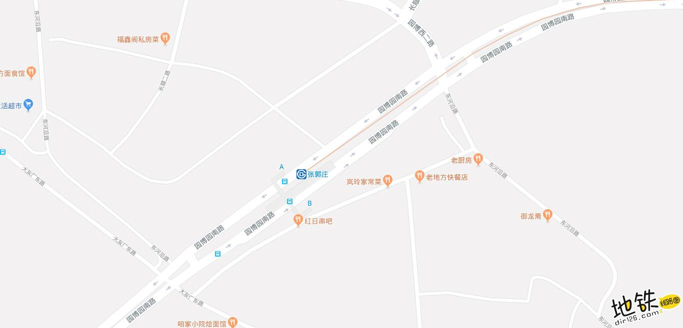 张郭庄地铁站 北京地铁张郭庄站出入口 地图信息查询  北京地铁站  第2张