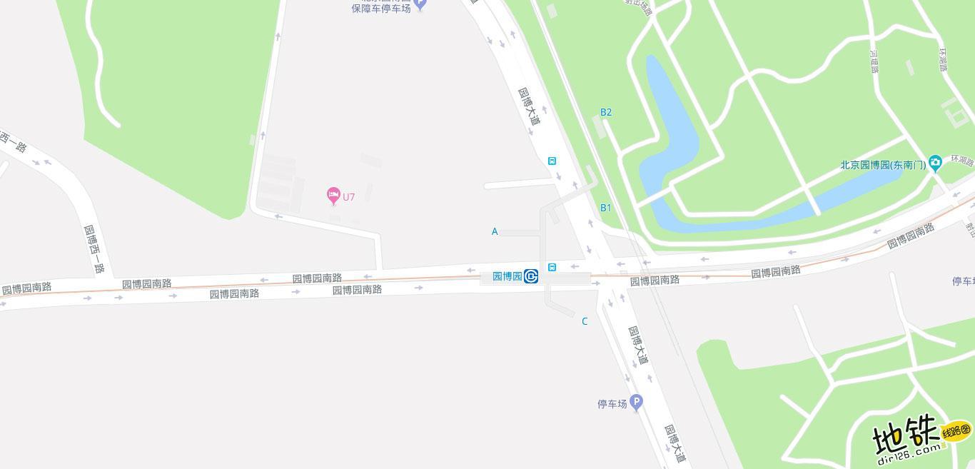园博园地铁站 北京地铁园博园出入口 地图信息查询  北京地铁站  第2张