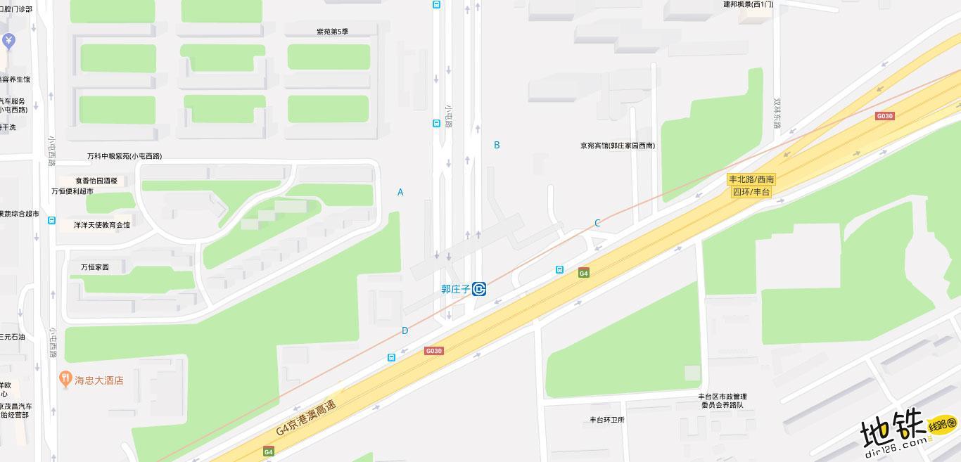郭庄子地铁站 北京地铁郭庄子站出入口 地图信息查询  北京地铁站  第2张
