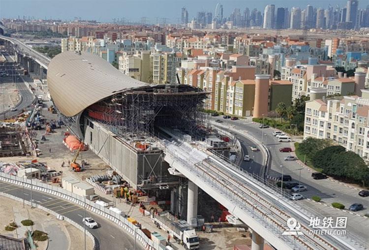 2020年迪拜地铁延伸项目建设顺利 完成率达7成 世博会 项目 2020 地铁 迪拜 轨道动态  第1张