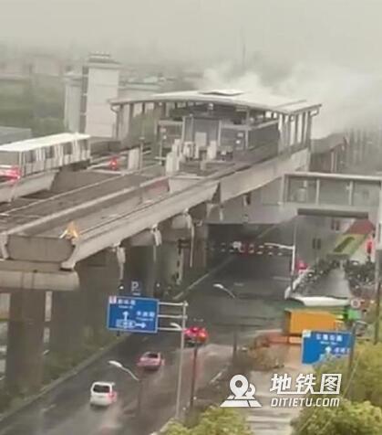 上海地铁站遭雷击是怎么回事? 雷击 地铁站 上海 限速 道岔 轨道动态  第1张