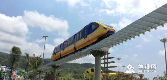 中国首条浅海运营单轨观光列车亮相海南 预计年底运行 列车 浅海 观光 单轨 中国 轨道动态  第1张