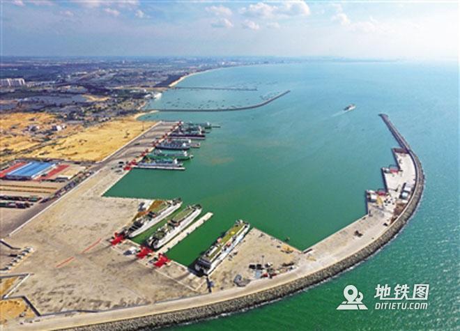 湛江至海口高铁将采用轮渡过海,时速可达350公里/小时 码头 铁路 高铁 海口 轮渡 高铁线路图  第1张